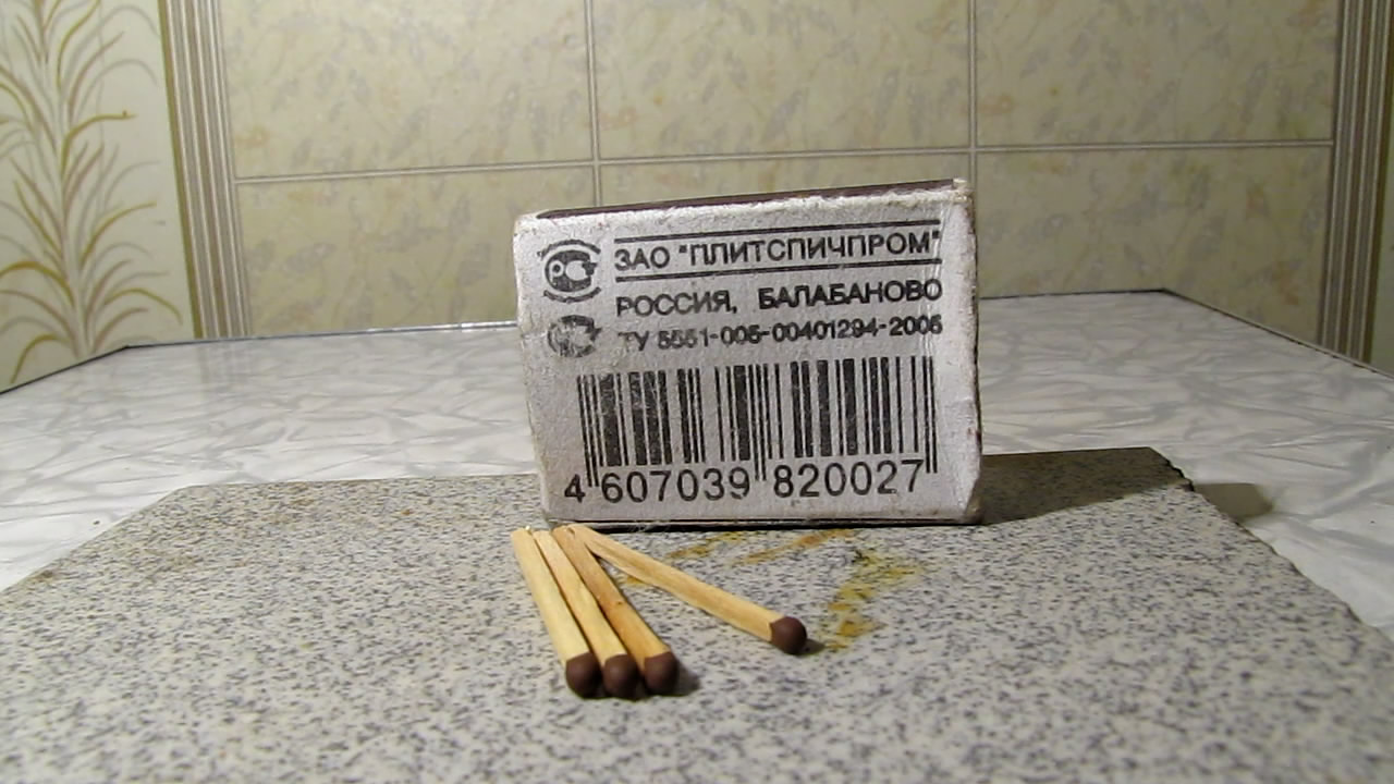 Спички и неодимовый магнит. Matches and neodymium magnet