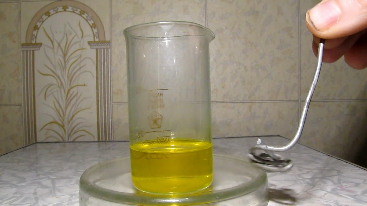 Восстановление бихромата калия алюминием в среде едкого кали. Reduction of dichromate (VI) ions with aluminum and potassium hydroxide