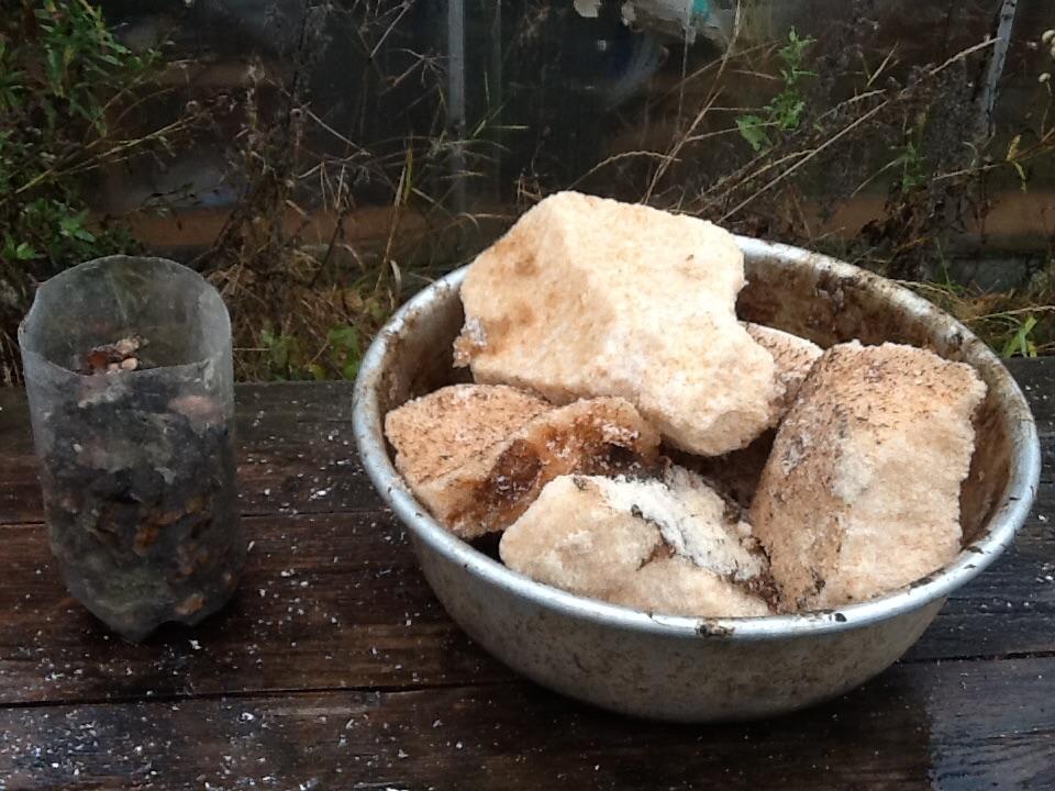 Взрыв смеси: аммиачная селитра - канифоль. Эксперимент #7. Explosion of mixture: ammonium nitrate - rosin. Experiment #7