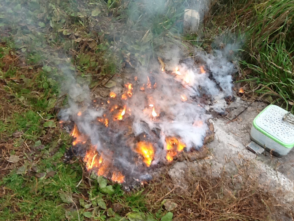 Взрыв смеси: аммиачная селитра - сахар. Эксперимент #9. Explosion of mixture: ammonium nitrate - sugar. Experiment #9