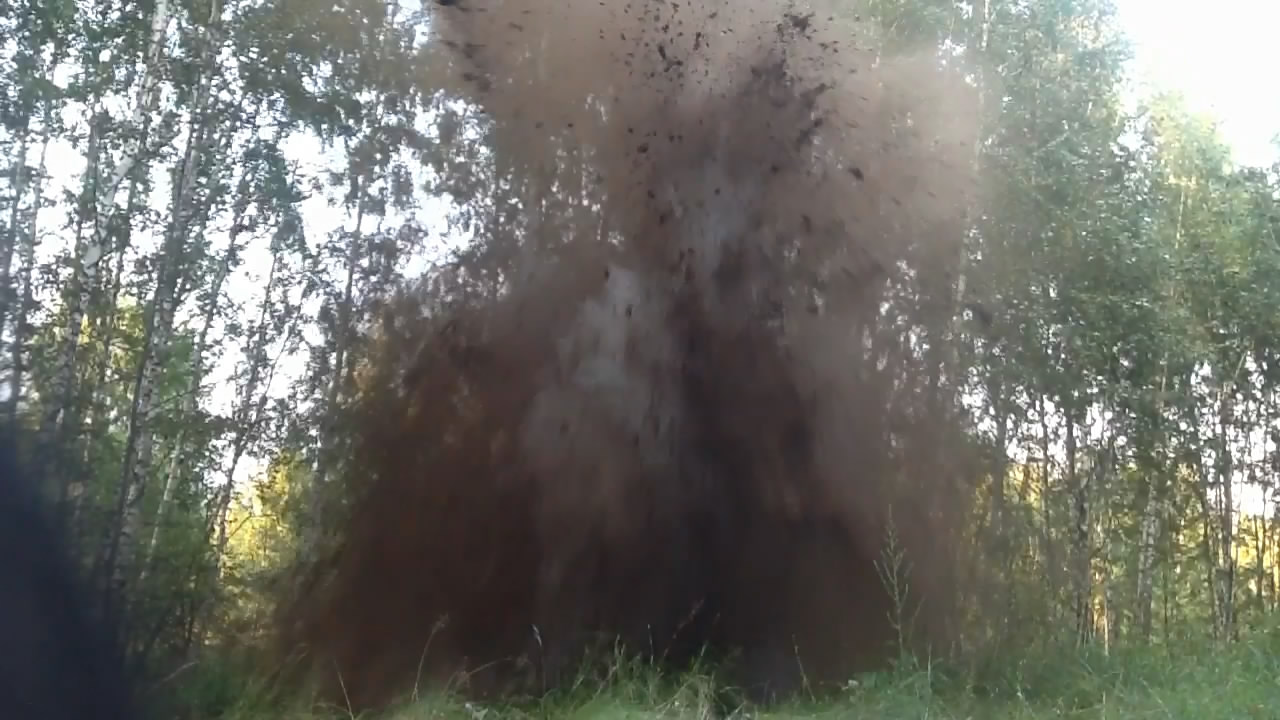 Взрыв смеси: аммиачная селитра - сера. Эксперимент #2. Explosion of mixture: ammonium nitrate - sulfur. Experiment #2