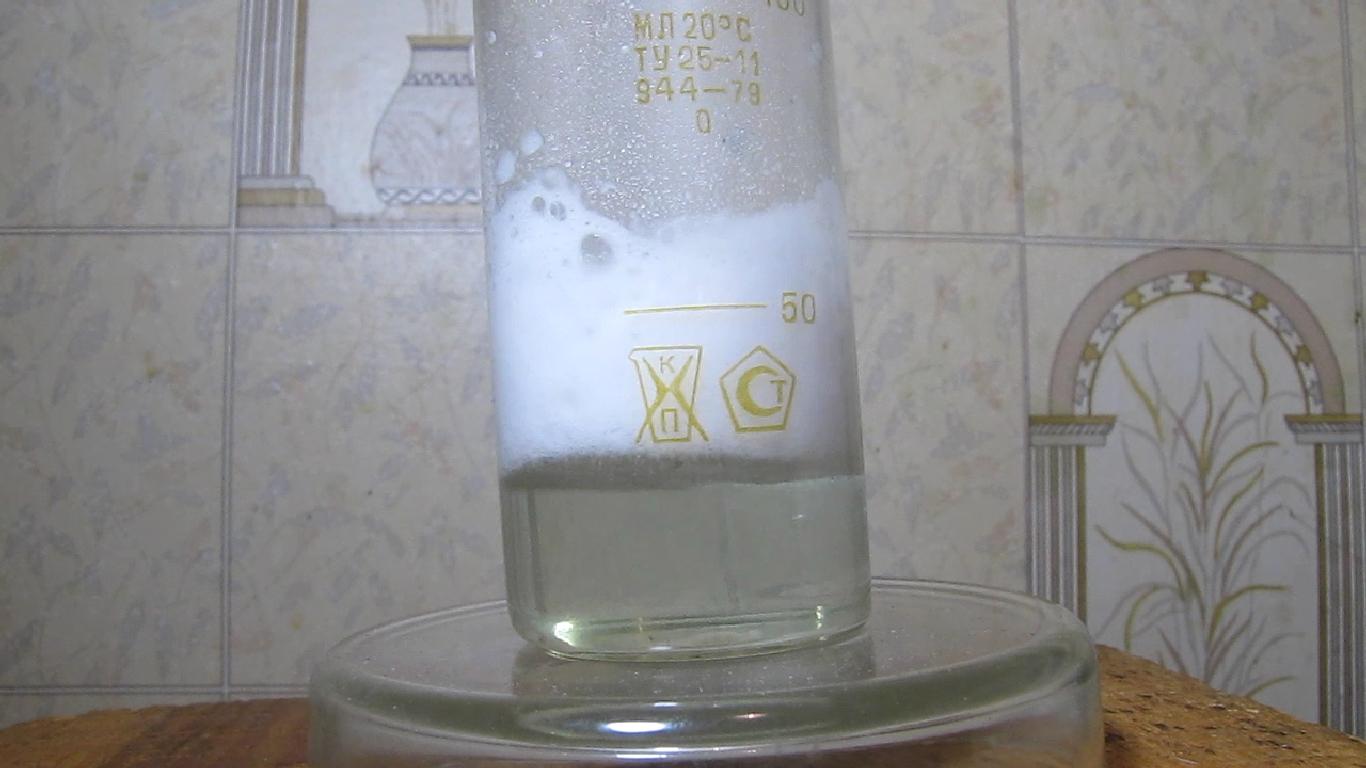 Молибденовая синь, соляная кислота и гидрокарбонат натрия. Molybdenum blue, hydrochloric acid and sodium bicarbonate