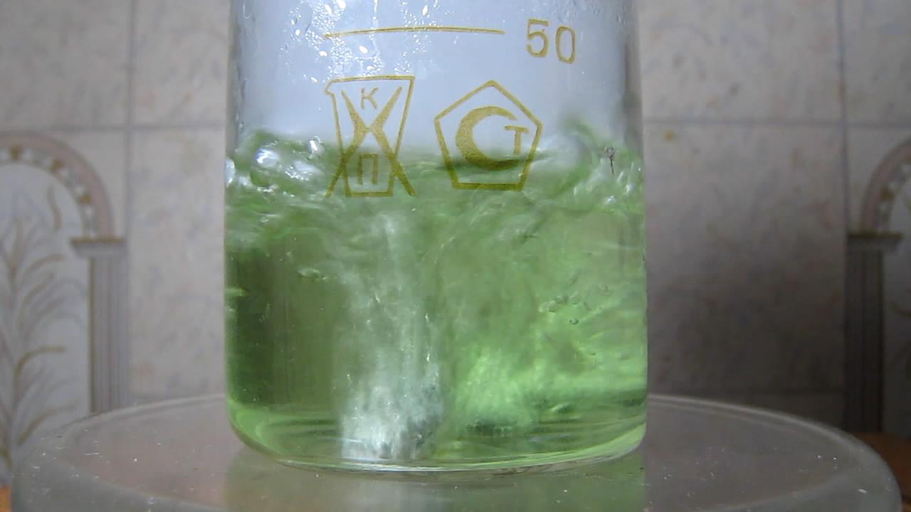 Молибдат, соляная кислота, цинк. Molybdate, hydrochloric acid, zinc