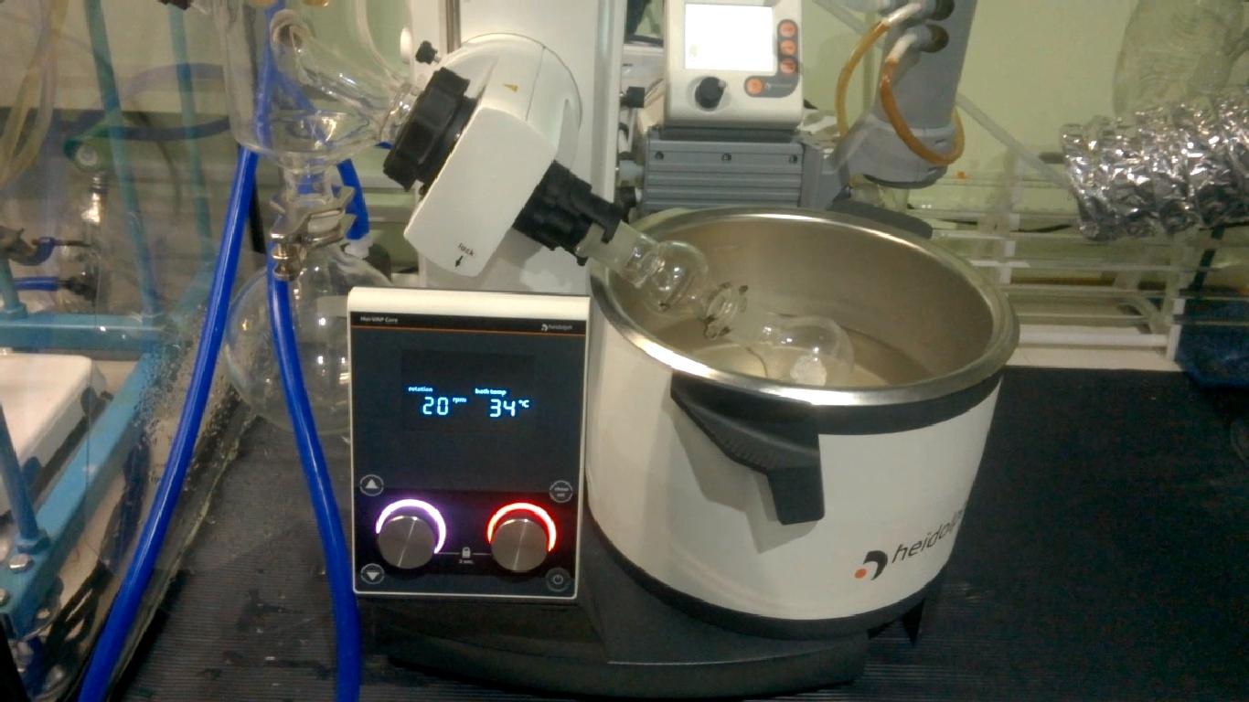 Роторный испаритель и хлорид цинка. Rotary evaporator and zinc chloride