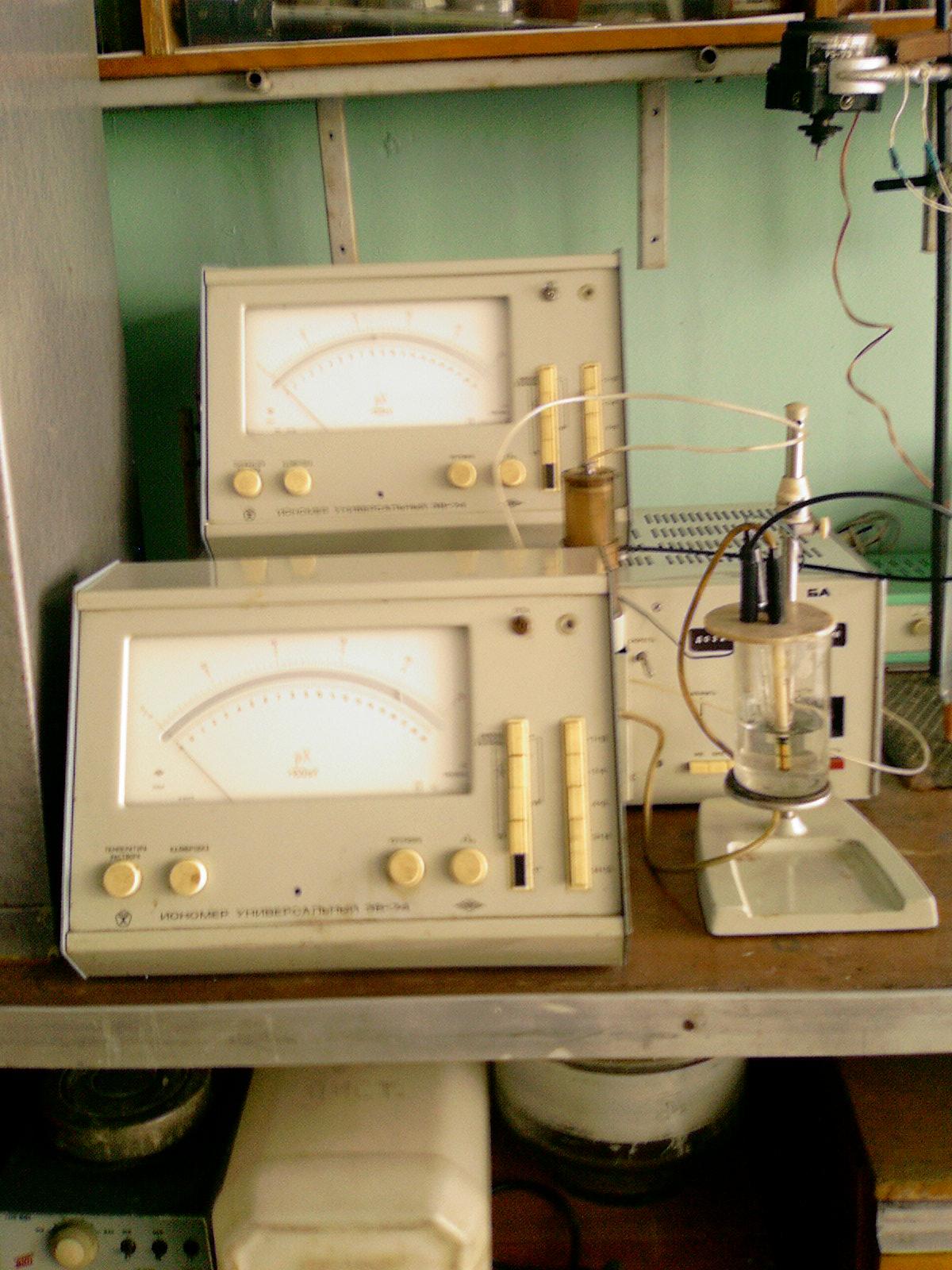 рН-метры образца 1970-1980-х гг.
