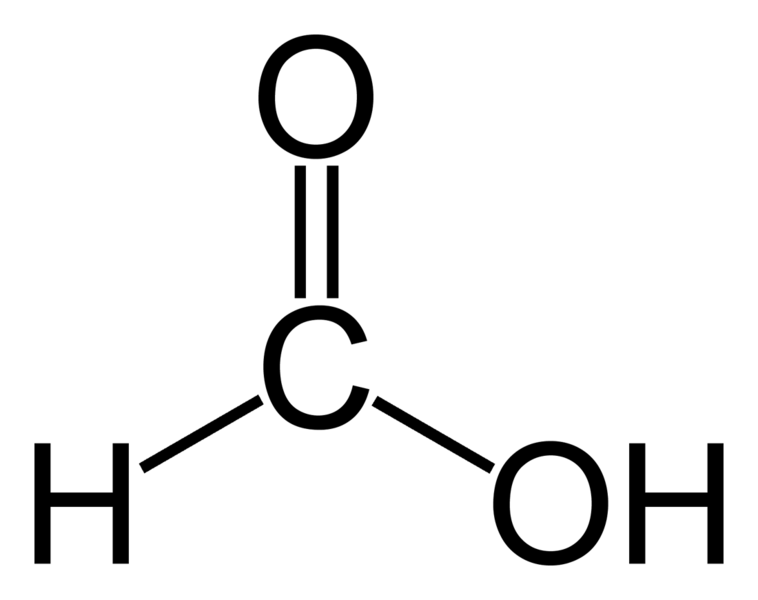 Строение молекулы муравьиной кислоты
