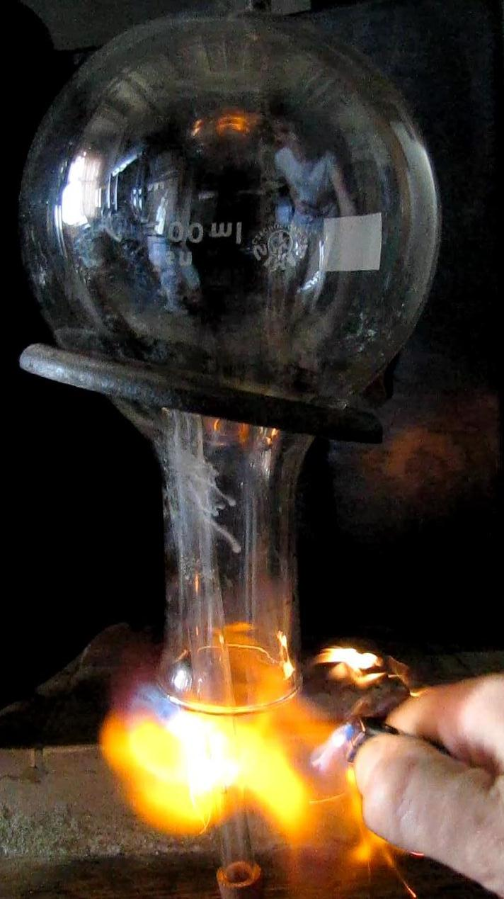 Горение воздуха в атмосфере водорода