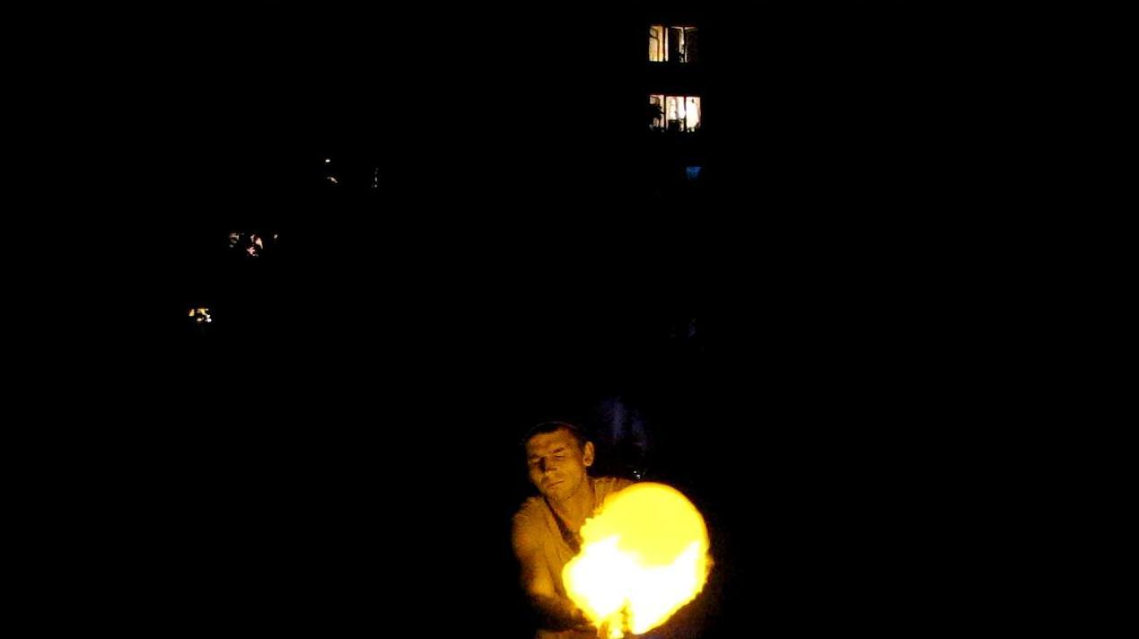 Взрыв шарика с водородом