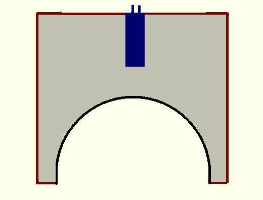 Схема кумулятивного заряда