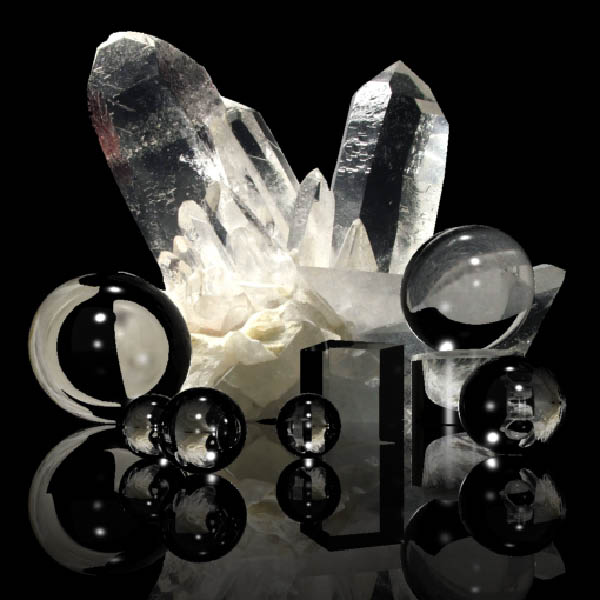 Кристаллы кварца и кварцевое стекло