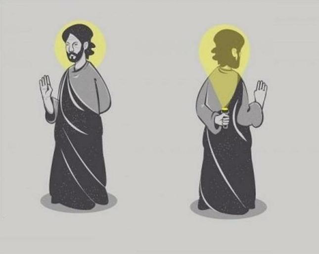 Не путай святое и светящееся