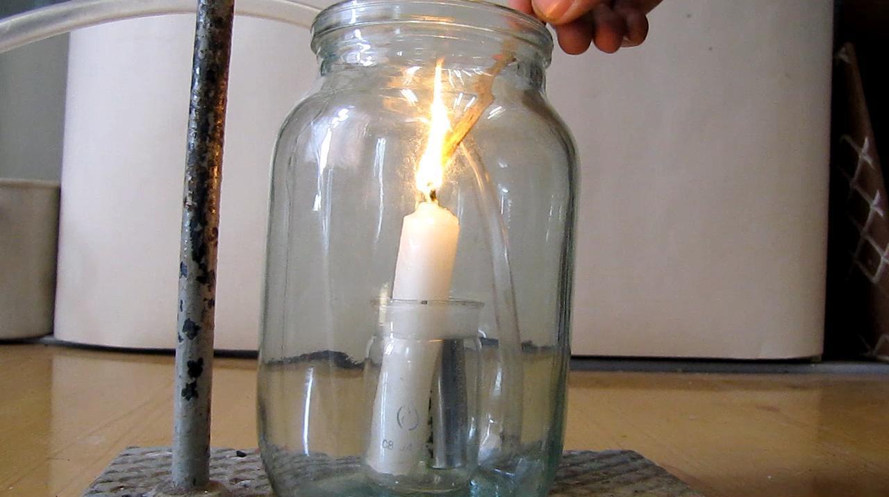 Аргон гасит свечу