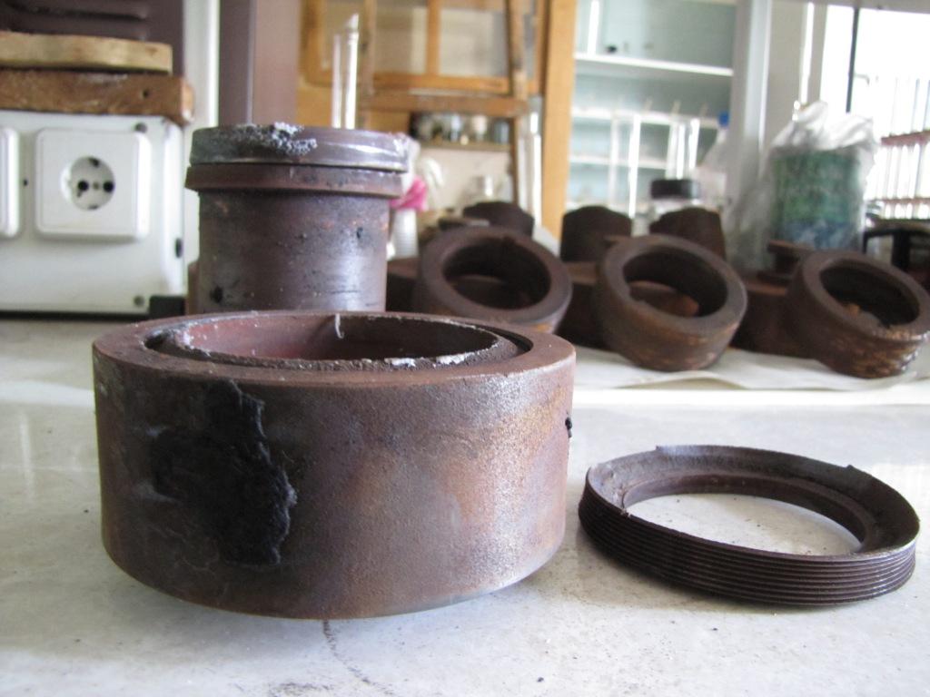 Гидротермальная бомба после взрыва