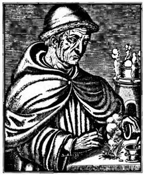 Бертольд Шварц. Гравюра конца XVI века