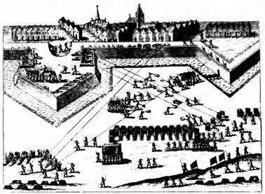 ''Научный'' форт. Гравюра XVI века. Подобные укрепления должны были противостоять осадной артиллерии
