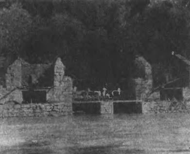 Пороховые мельницы Дюпонов после взрыва