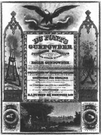 Реклама пороха фирмы ''Дюпон''. 1851 год