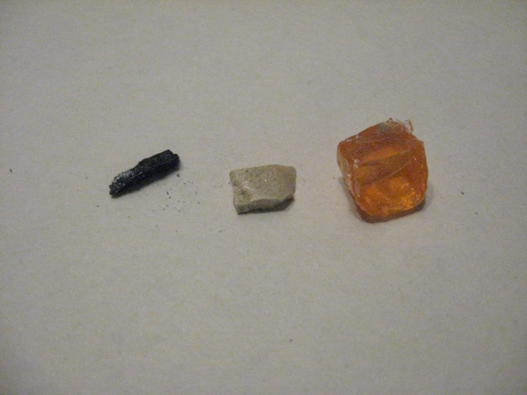 Горение угля, серы и сахара в расплаве хлората калия