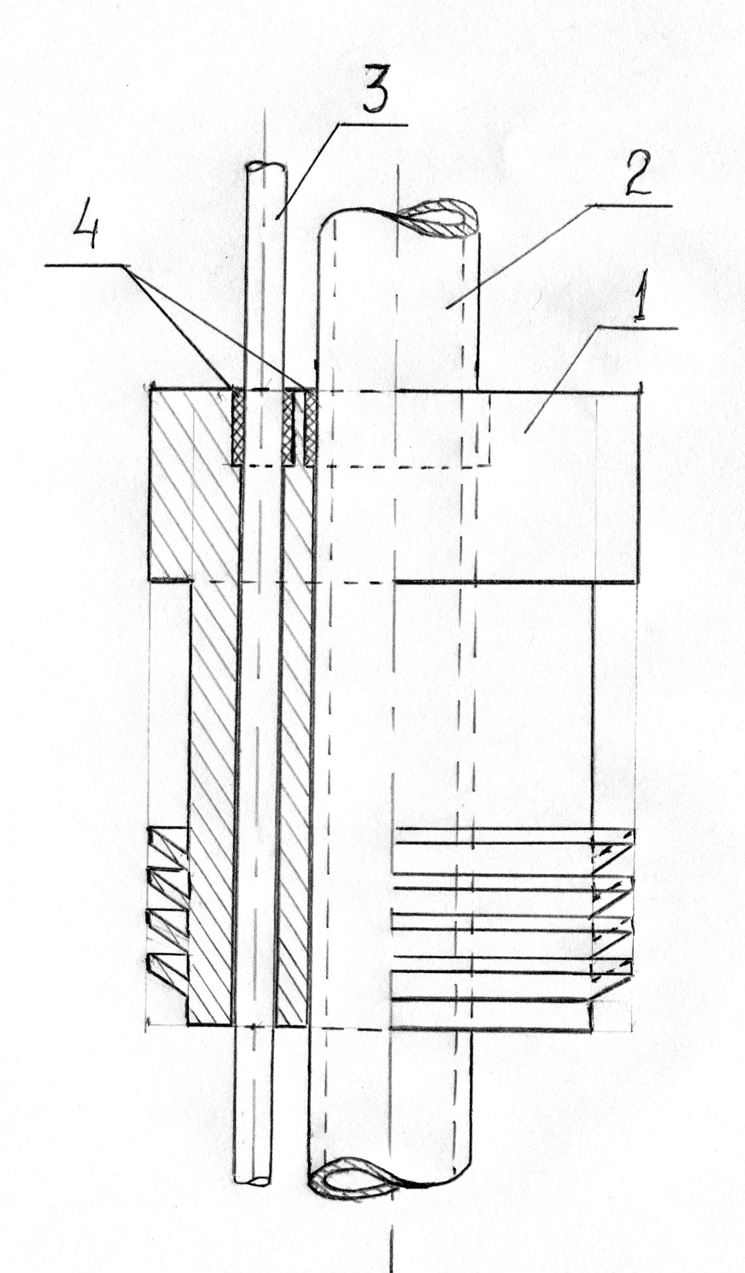 Конструкция пробки концентратора