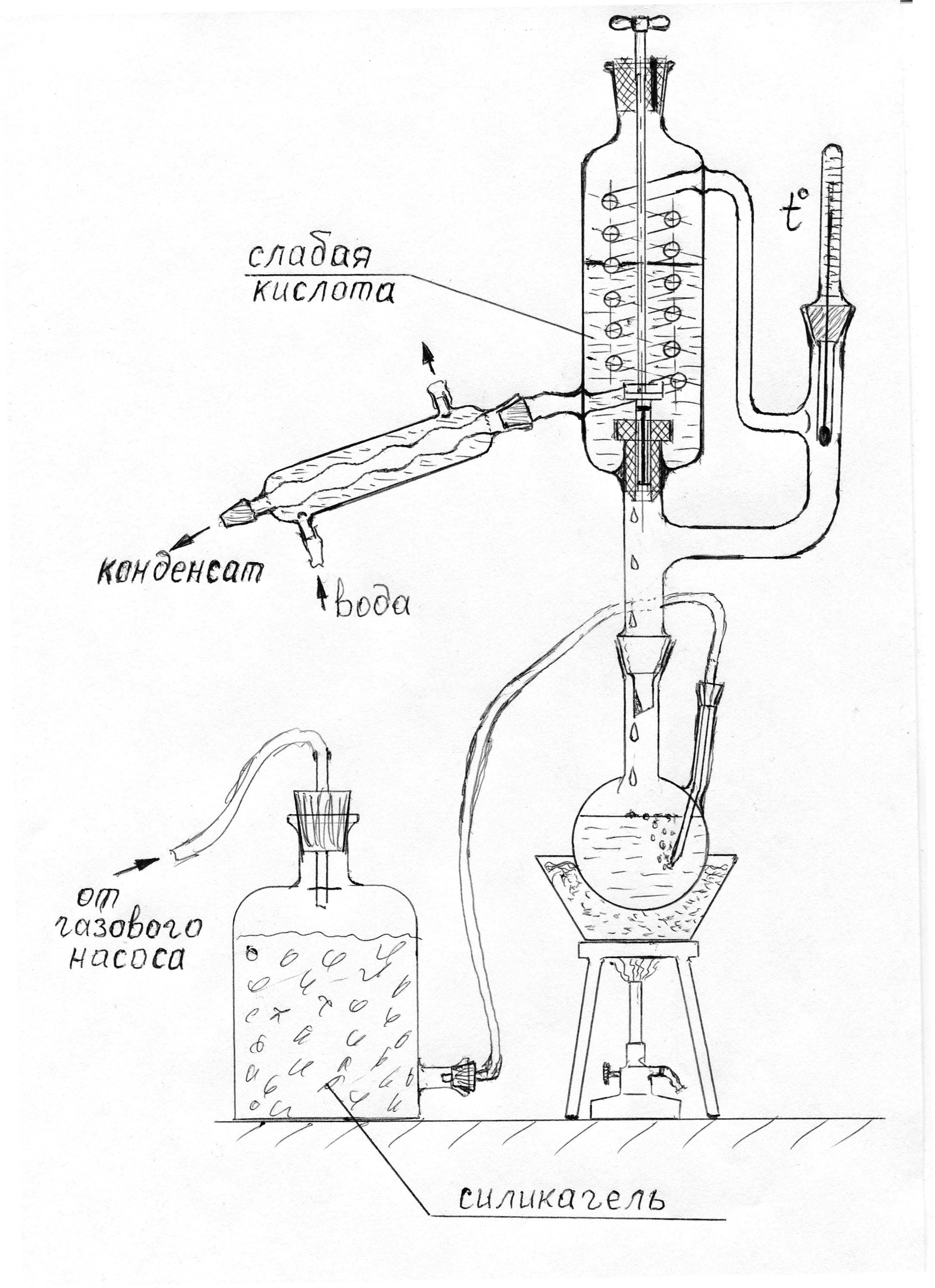 Фрагмент циркуляционной установки с регенерацией тепла
