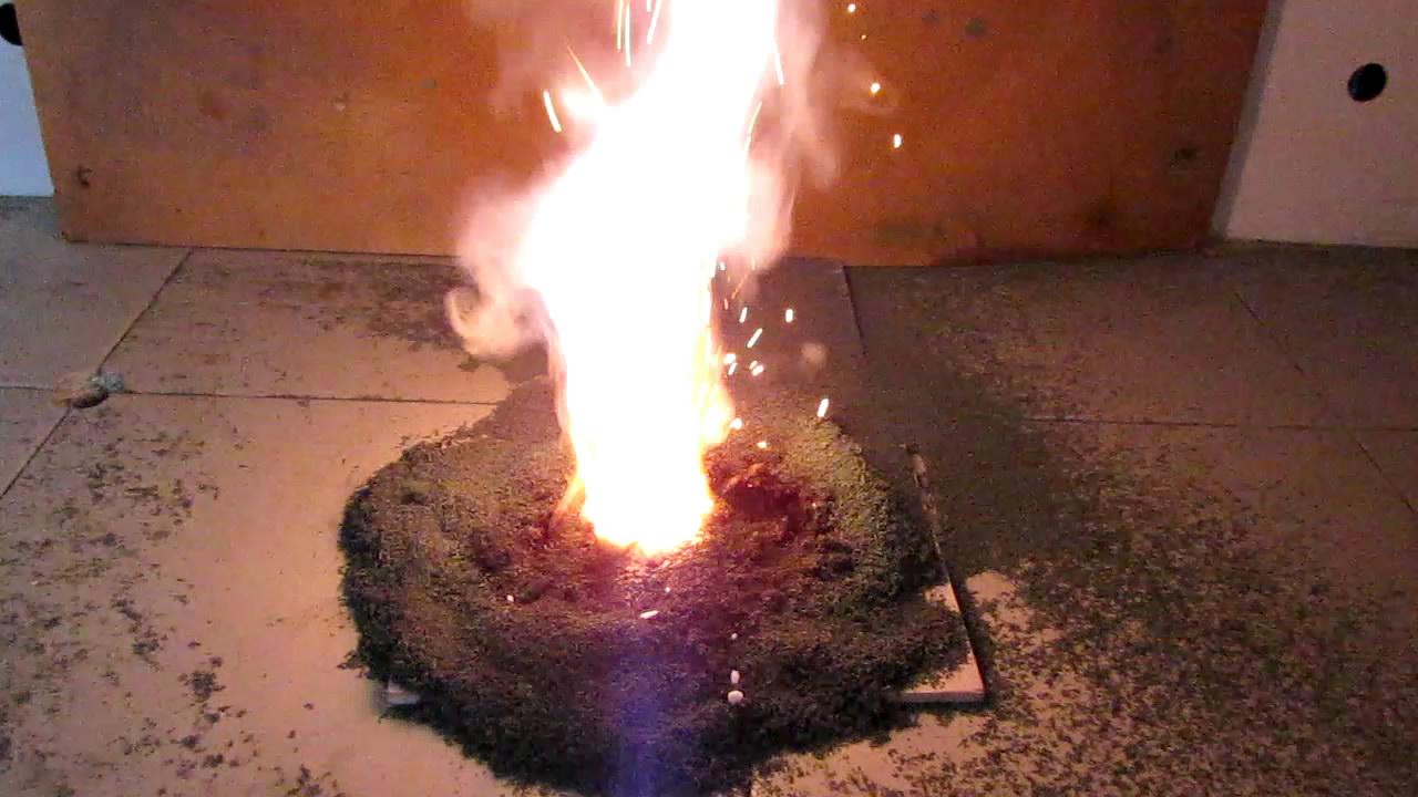 Химический вулкан и каталитическое горение сахара