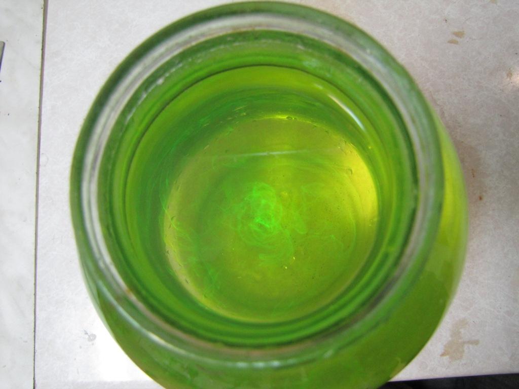 Вихревые кольца с флуоресцеином
