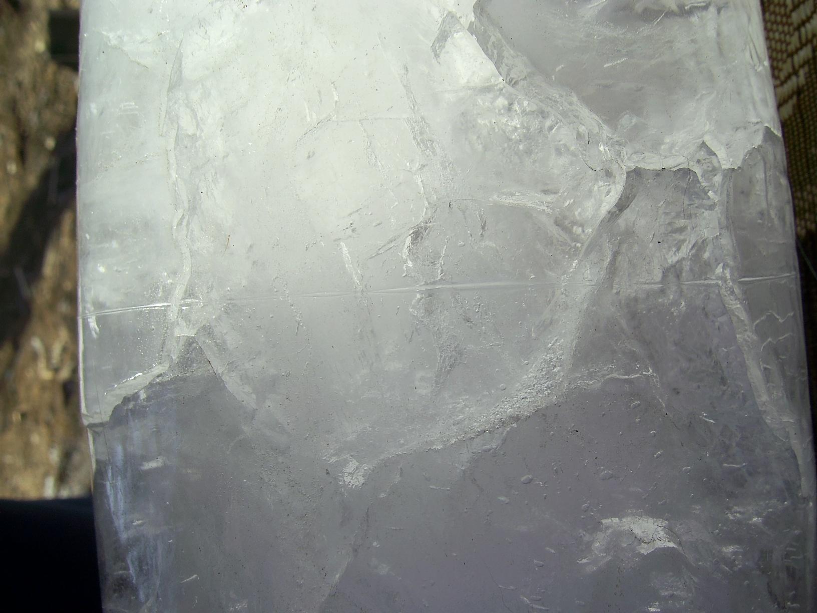 Разрезание льда (лед под давлением)