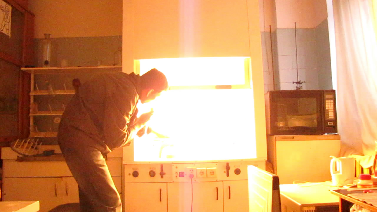 Вспышка смеси алюминиевой пудры и воздуха