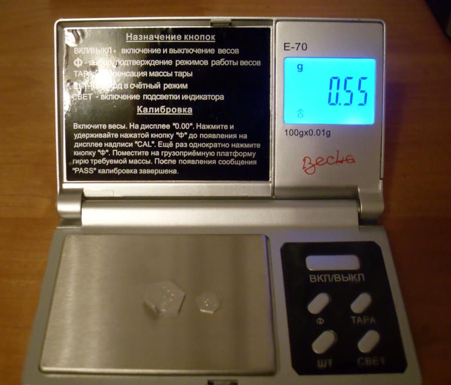 Весы в химической лаборатории