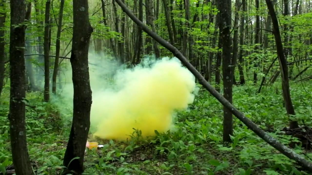 Желтая дымовая шашка