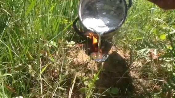 Что будет если залить муравейник расплавленным алюминием?