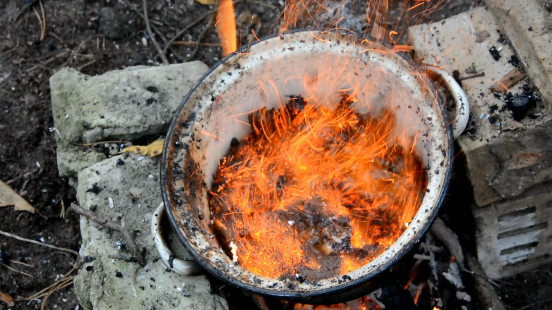 Нитрат аммония - 850 г и сахар - 150 г (горение смеси) / Ammonium Nitrate and Sugar (burning of the mixture)