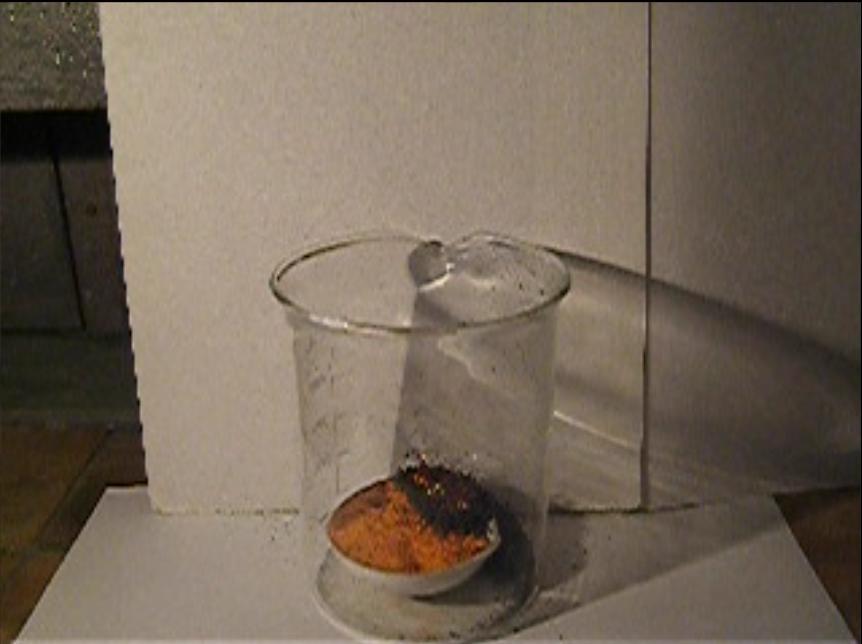 Вулкан в стакане (разложение бихромата аммония). Volcano in the Glass (Decomposition of Ammonium Dichromate)