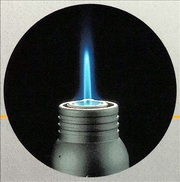 Форма пламени турбозажигалки