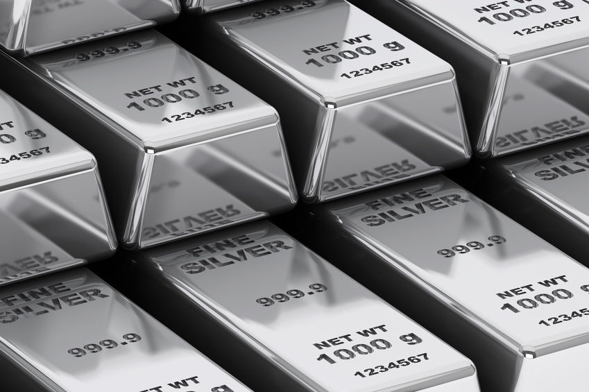 Слитки серебра. Silver