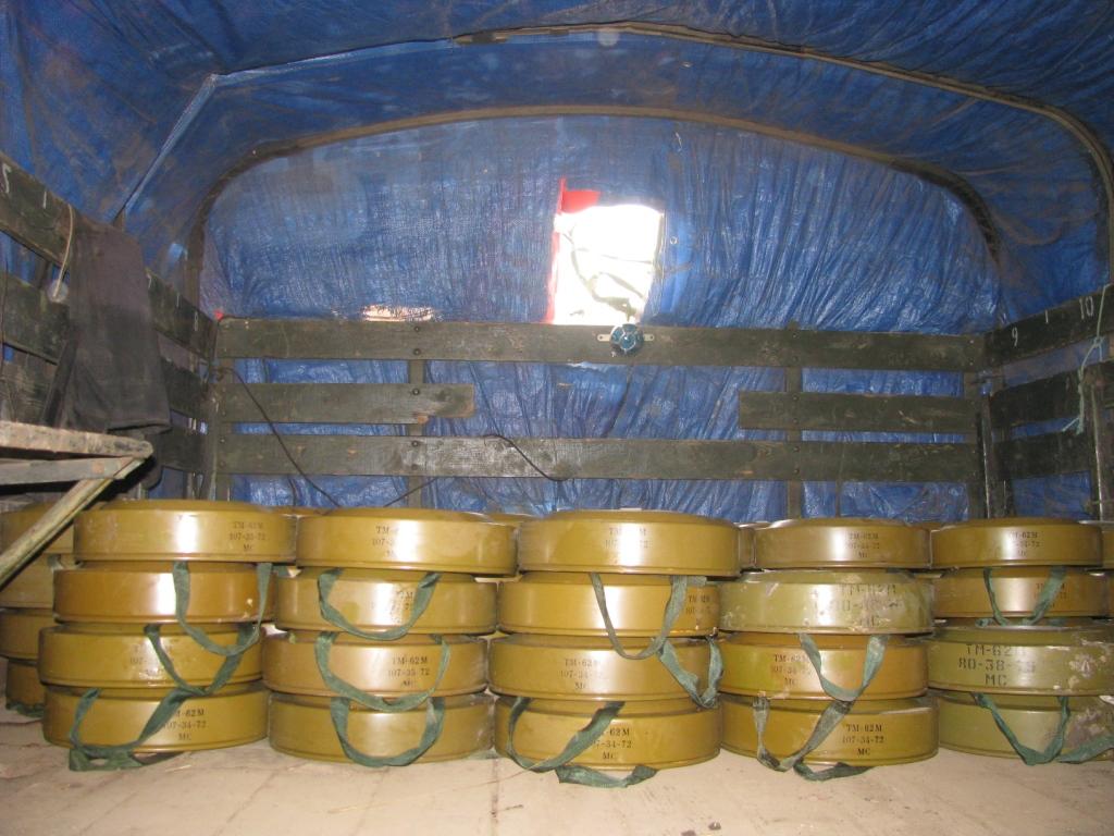 Противотанковая мина ТМ-62. Soviet anti-tank blast mine ТМ-62 (7 kg of TNT)