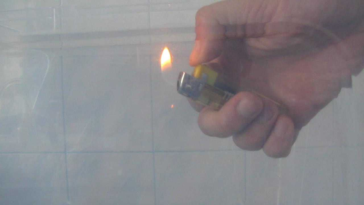 Аргон гасит огонь (зажигалка). Argon extinguishes fire (lighter)