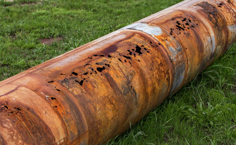 Коррозия труб. Pipe corrosion