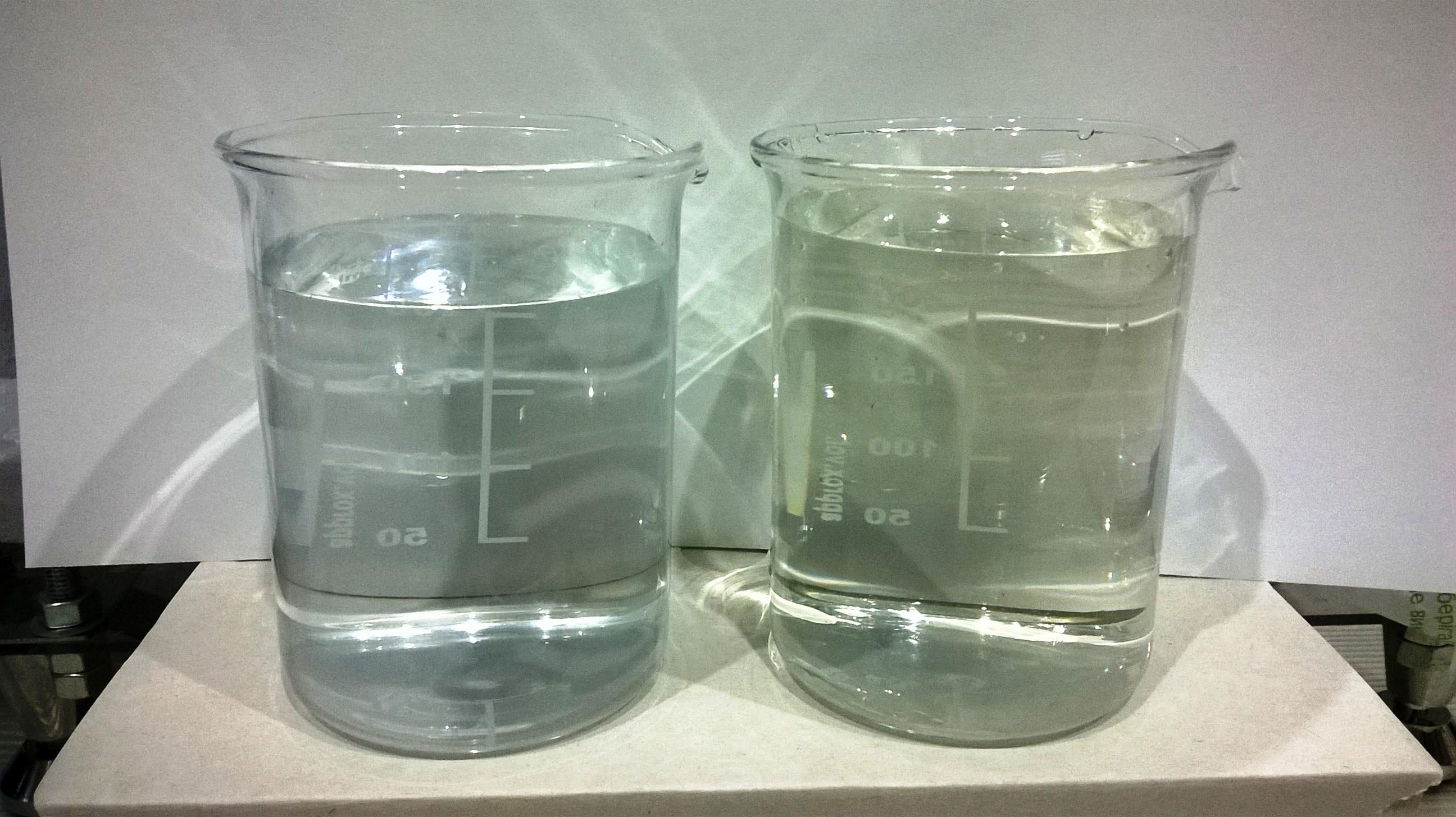 Дистиллят и водопроводная вода. Distillate and tap water