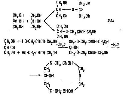 Триглицерин, тетраглицерин и полиглицерин; этиленгликоль и полигликоли… Triglycerol, tetraglycerol and polyglycerol; ethylene glycol and polyglycols...