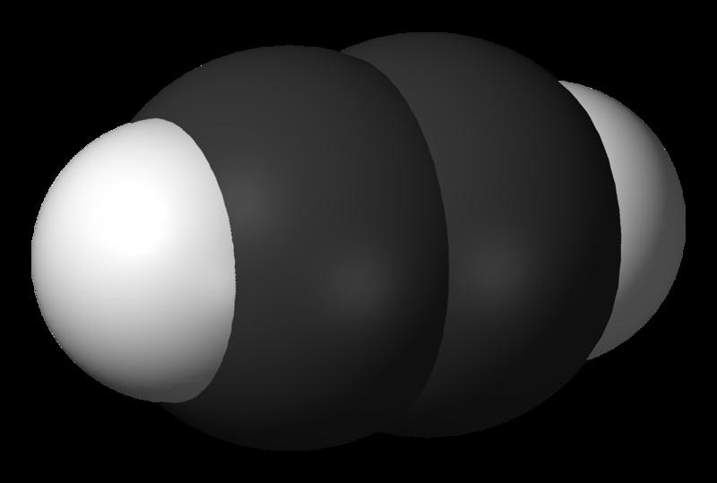 Молекула ацетилена