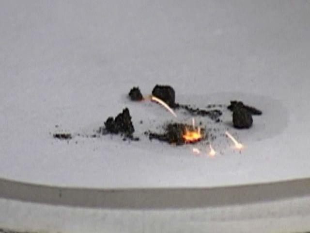 Самовоспламенение никеля Ренея