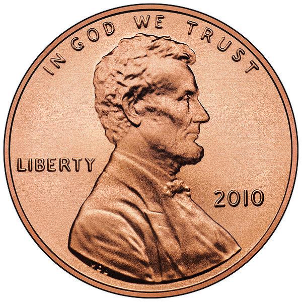 Монета 1 цент