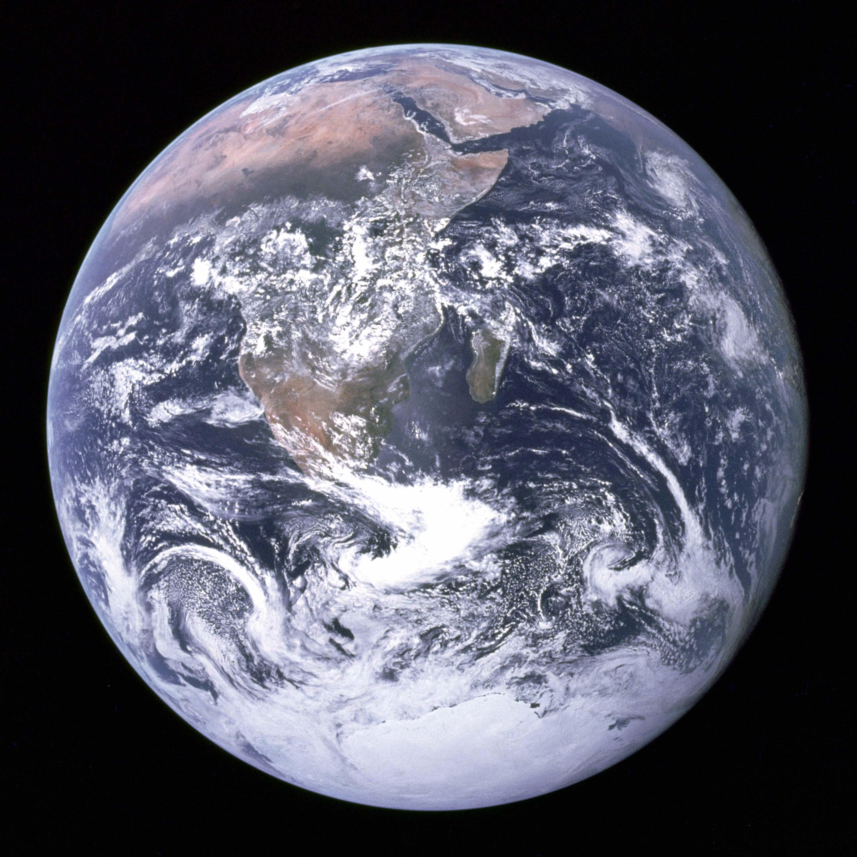 Фотография Земли с космического корабля Аполлон-17