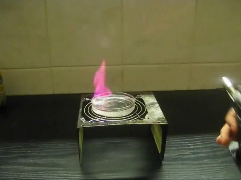 Реакция лития с водой