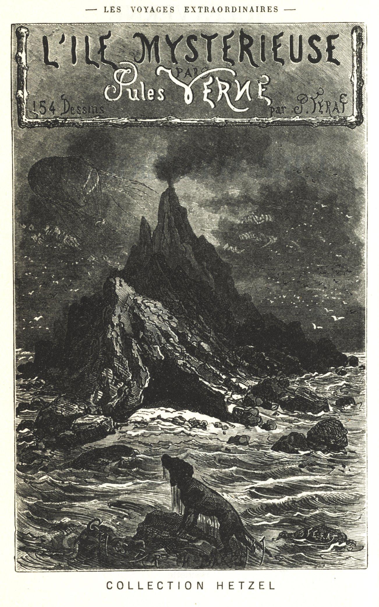 Обложка книги Жюля Верна Таинственный остров (1874 год)