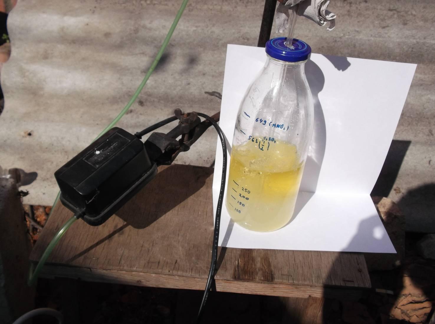 Промывка нитроглицерина раствором соды