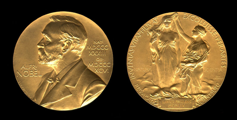 Медаль, выдаваемая вместе с Нобелевской премией