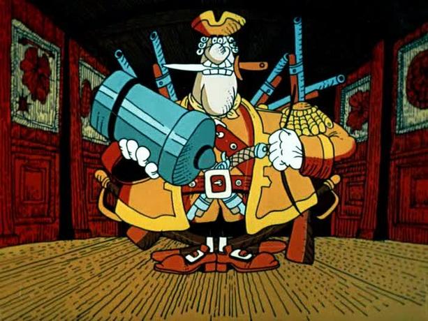 Кадр из мультфильма Остров сокровищ