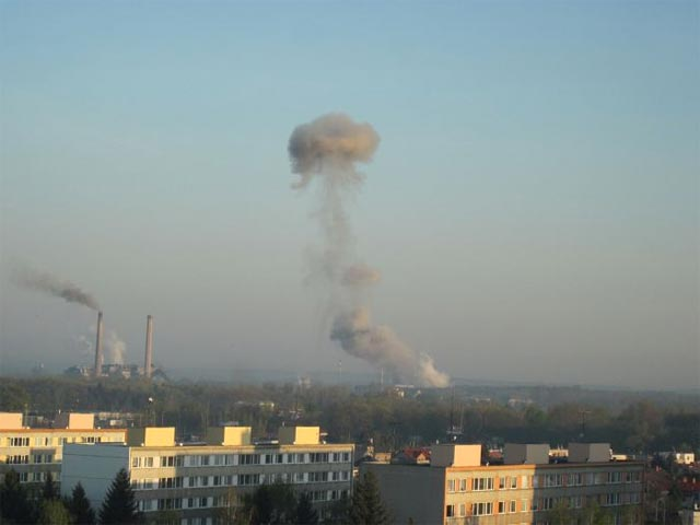Взрыв нитроглицерина на заводе в Чехии